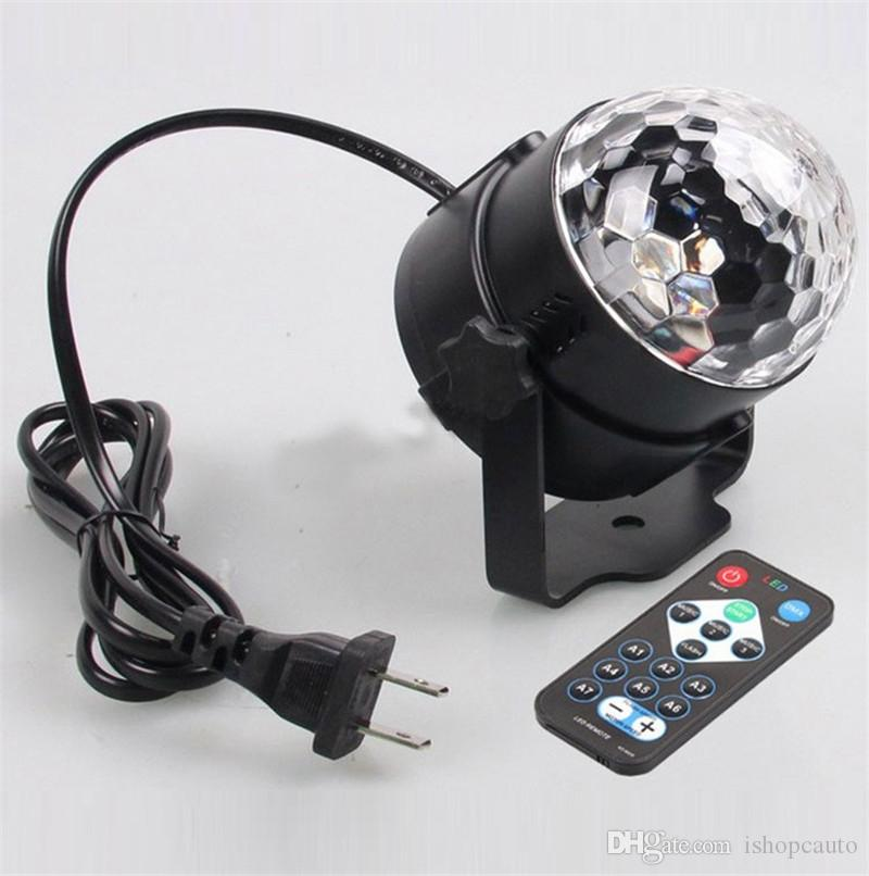 Crystal Magic Ball Led Stage Lamp Remote control RGB stage lights rotating colorful Stage Lighting Disco Laser Light Party