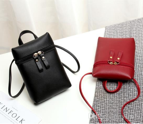 New Design Ladies Zipper Cross Body Fashion Bags High Quality PU Leather Jelly Color Single Shoulder Handbags Mobile Phone Bags