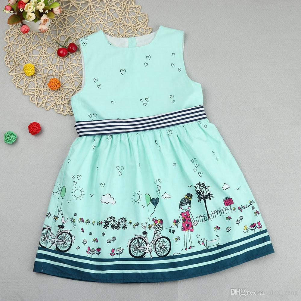 87764cdfe64a 2019 2018 Baby Girls Dress Kids Clothes Summer Fashion Children Printed Dresses  Baby Party Dress Cotton Princess Dress Children Clothing From Alex_zeng, ...