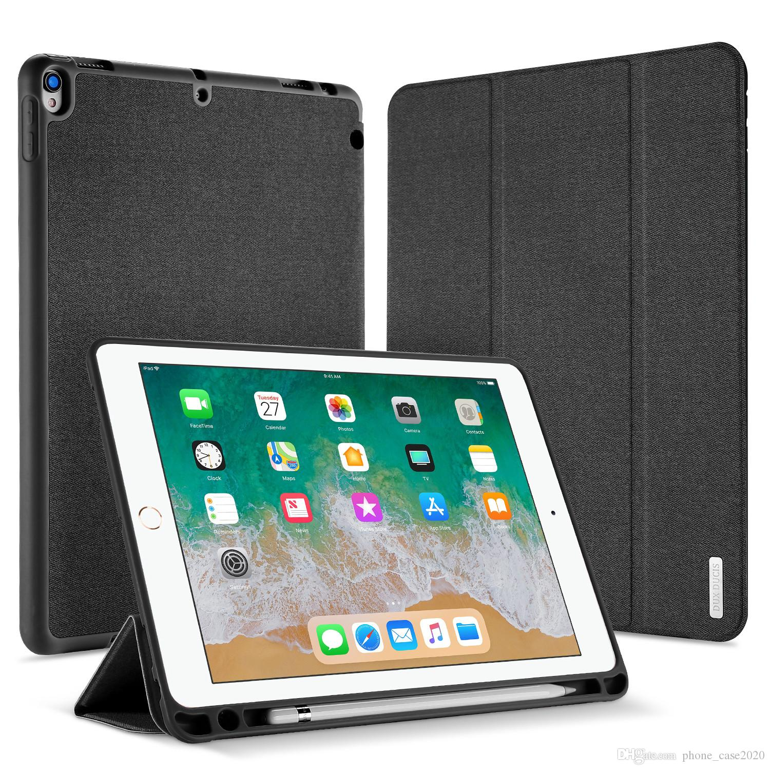 outlet store 62ac9 f4ab7 Slim PU Leather Smart Case with pencil holder For iPad Pro 10.5 12.9 iPad  9.7 2018 iPad 9.7 2017