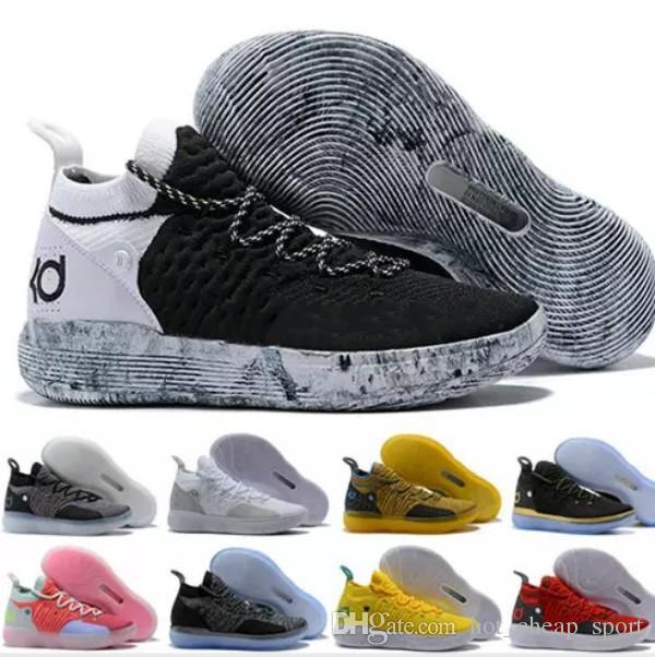 2018 Cheap Kd 11 Ep Elite Basketball Shoes 11s Men Multicolor Peach