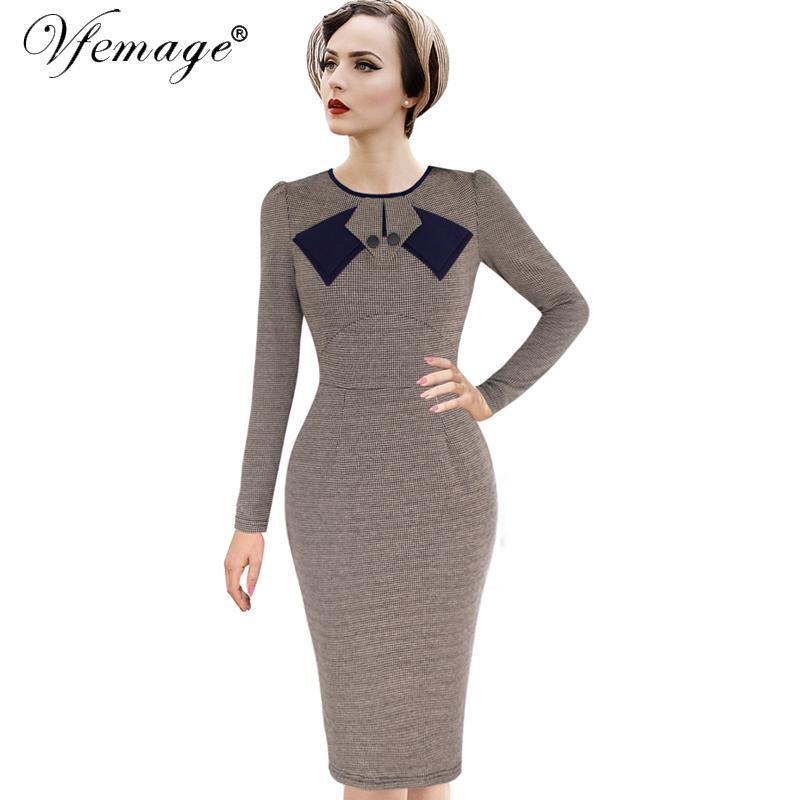 2019 Vfemage Womens Elegant 1950s Vintage Pinup Retro Rockabilly ...