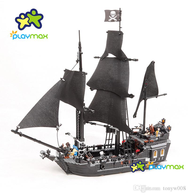 2019 Wholesale Pirates Series Black Pearl Ship Building Block Toys
