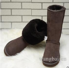 02607a62be8 HOT women boots designer shoes Australian Style Ugg Women Unisex Snow Boots  Waterproof Winter Leather Long Boots Brand IVG With Gift Plus