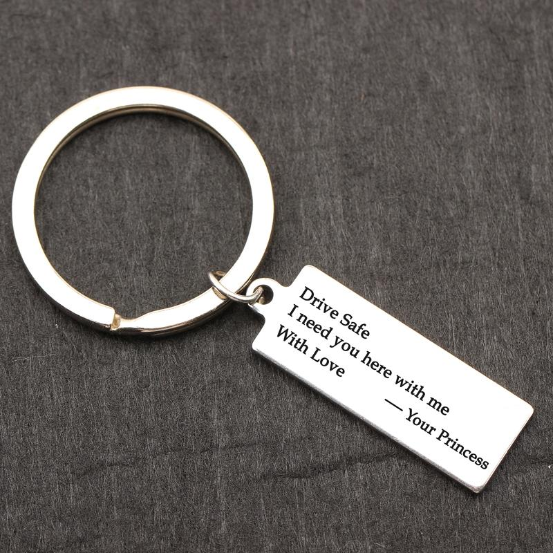 Couples Keychain Drive Safe I Need You Here With Me With Me Keyring Custom  engraved Alloy Keyfob Bagchain Gift for her /him