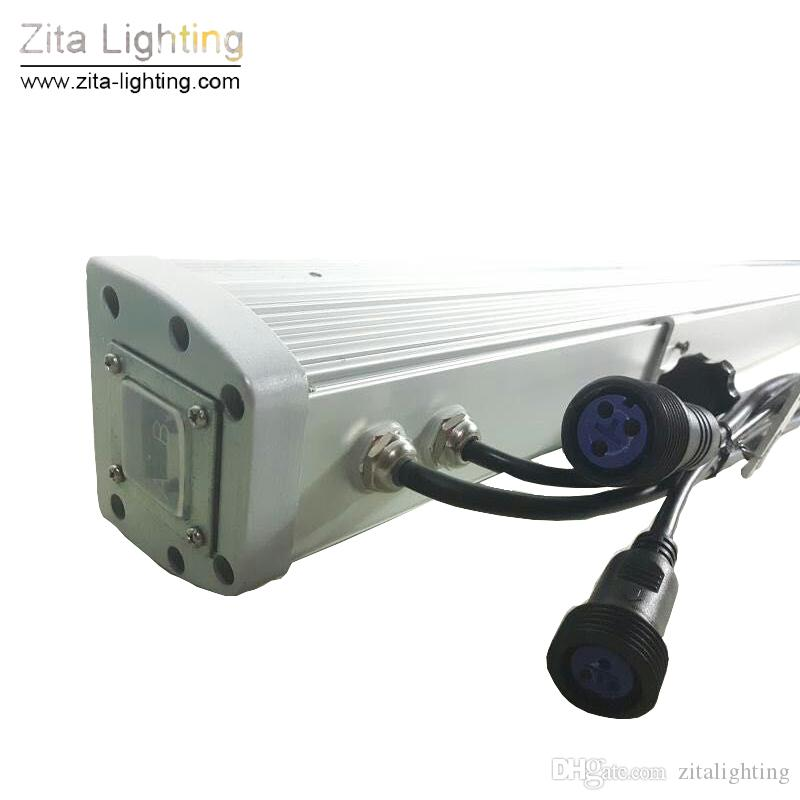 10 Pz / lotto Zita Lighting LED Wall Washer 18X3W Bar Wash Beam Lights 1Meter RGB Mixing Colore Cambiamento graduale DMX512 Disco Party Club Event