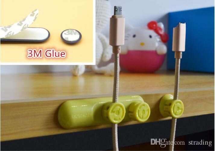 Nouveau 4 Couleurs Multifonction Écouteur Casque Cordon Enrouleur Titulaire du Câble USB Organisateur Magnétique Réunir Clips Aimant Fil Pince