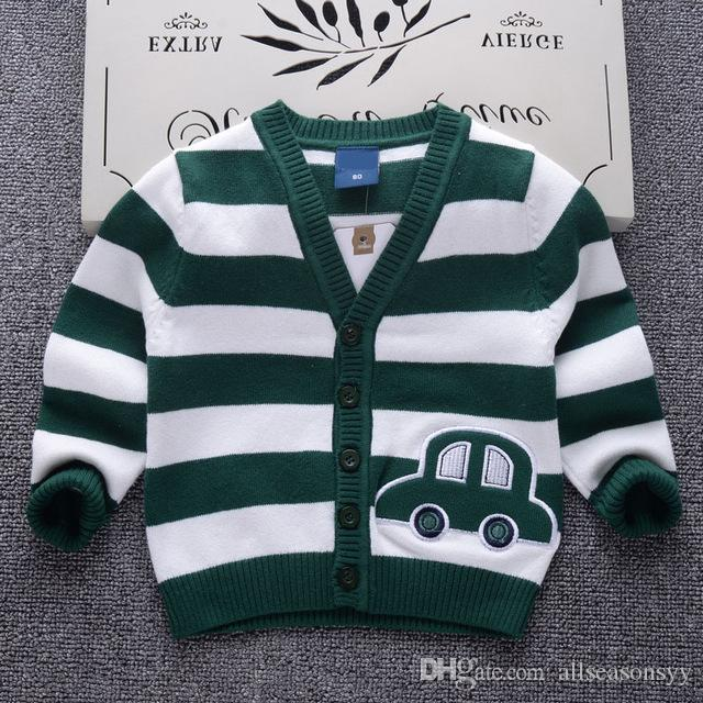 England Style Baby Boys Cardigan Sweater 2018 New Autumn Cartoon Car