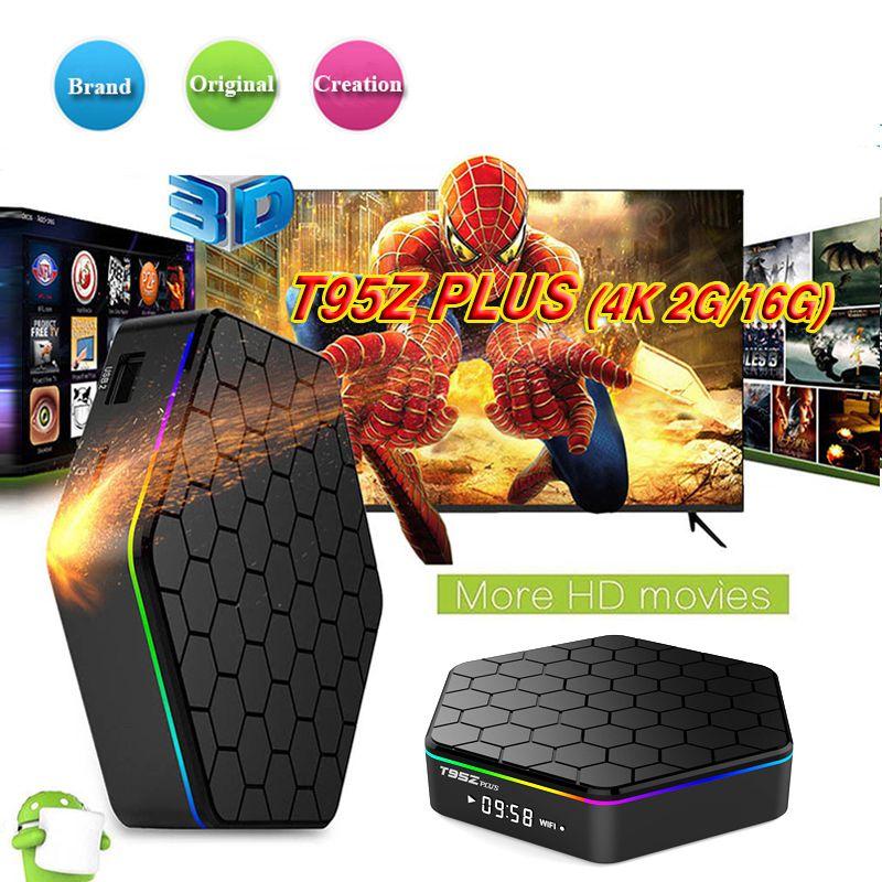 T95Z Plus Android 7 1 TV Box Amlogic S912 2GB 16GB Octa Core Bluetooth 4 1  Dual Wifi HDMI 4K Streaming Media Player OTT Boxes Better S905W