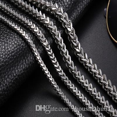 Punk Rock Metal Uzun Zincirleri Bağlantı kolye İçin Erkekler Paslanmaz Çelik 6MM Geniş 18-30 İnç Vintage titanyum 2017 Bildirimi Takı CHN001