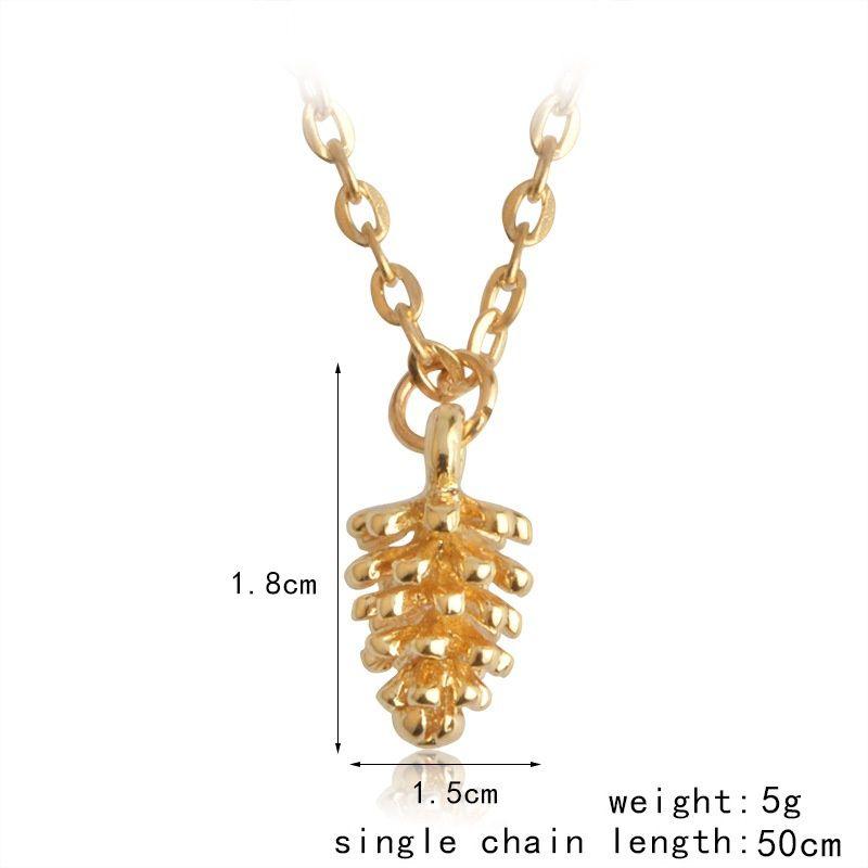 الأزياء البسيطة الجوزة الصنوبر المخروط قلادة القلائد سترة سلسلة كوز مجوهرات هدية طوق