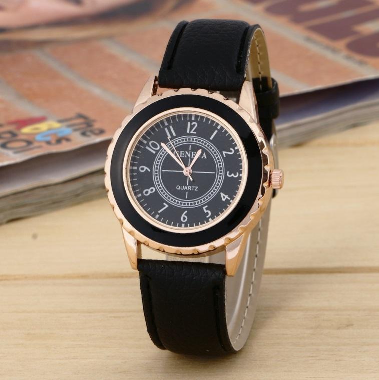 Uhren Frauen Uhr Heißen Verkauf Frauen Mode Uhr Frauen Metall Strap Pu Leder Armbanduhren Uhr Relogio Feminino Großhandel
