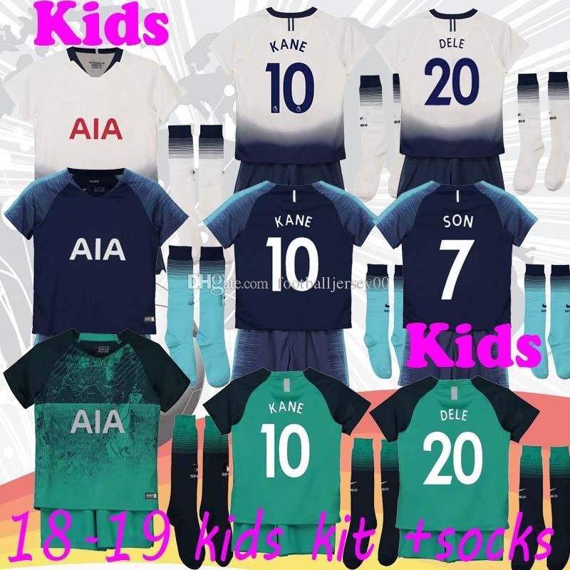 1b1dbf830 2019 SPURS Tottenhames Soccer Jersey KANE DELE 2018 2019 Kids Home Away SON  LAMELA JANSSEN ERIKSEN TRIPPIER DELE Kids Football Shirts From  Footballjersey00, ...