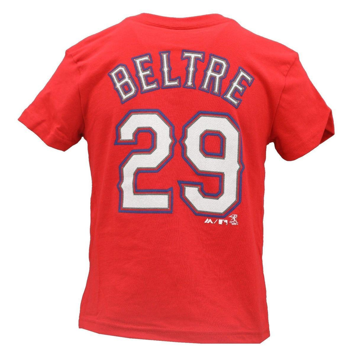 Official Majestic Kids Size Adrian Beltre T-Shirt New Tags Print 100% Cotton Short Sleeve T-Shirt Comfortable t shirt Casual