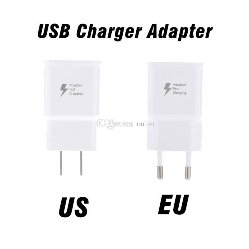Cargador rápido QC 2.0 5V 2A Adaptador USB Cargador de pared UK EU EE.UU. Plug universal para Galaxy S9 S8 iphone x goophone
