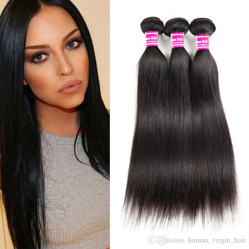 Cheap 8A Brazilian Virgin Hair Vendors Straight Human Hair Bundles 3 Weave  Bundles Unprocessed Malaysian Mongolian Indian Hair Extensions Black Hair  Weave ... 2ffa76373