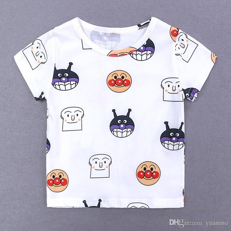 bd0842aa3ae New Fashion Cute Baby Girls Boys T Shirts Cartoon Monster Print Summer  Casual T-Shirt Children Clothes 1-6 Year Preschool Short Sleeve New Fashion  Online ...