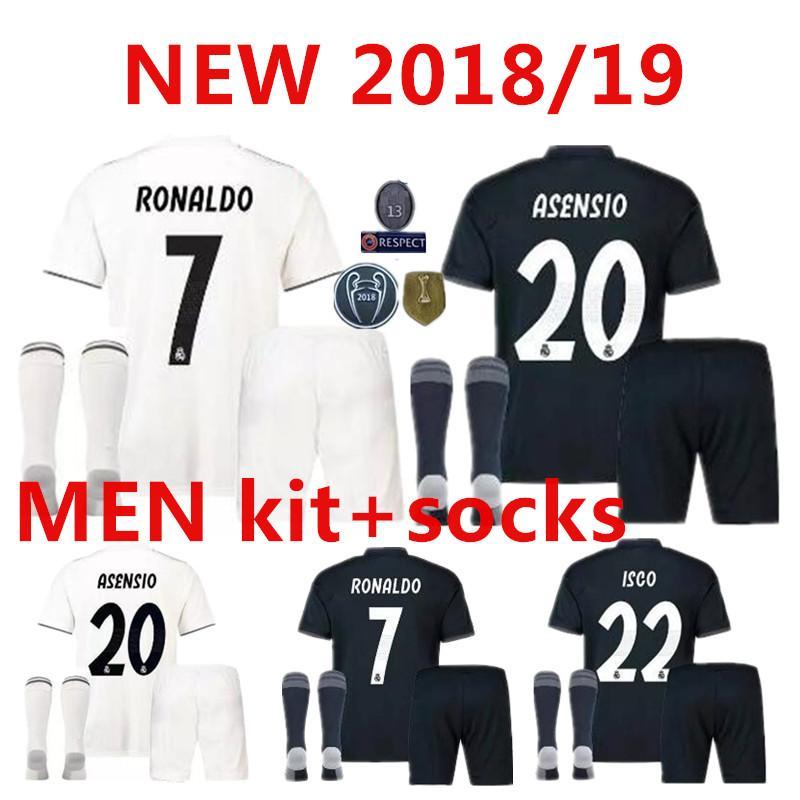 47061a6b9 Real Madrid Soccer Jerseys Kids Jersey Kits Youth Boys Child 2018 ...