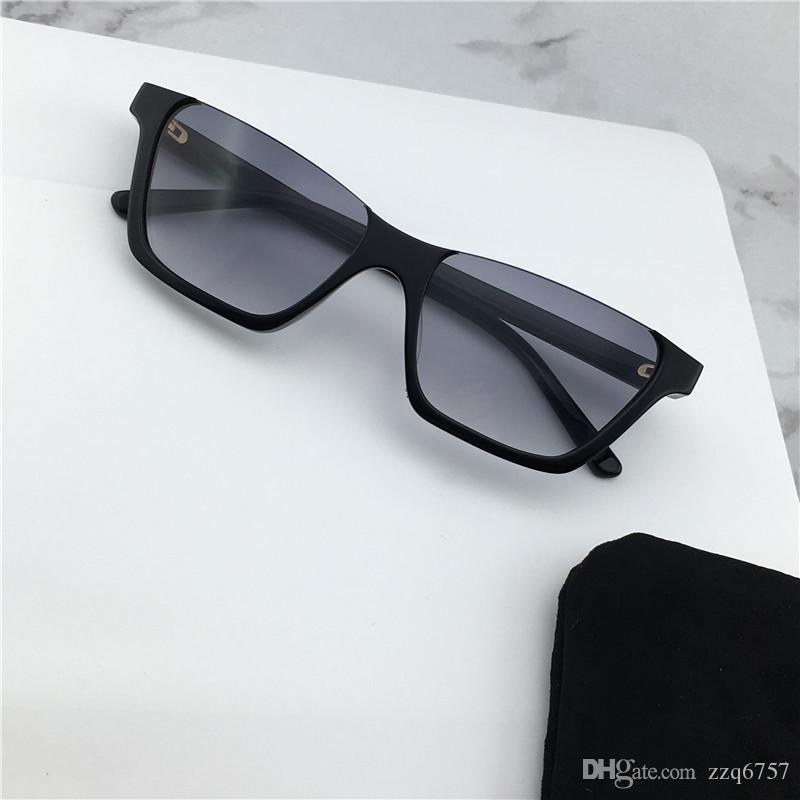 9f64943e43d84 Compre Atacado Moda Óculos De Sol 40028 Meio Quadrado Quadro Avant Garde  Simples Clássico Popular Estilo Uv400 Proteção Mulheres Óculos De Sol De  Alta ...