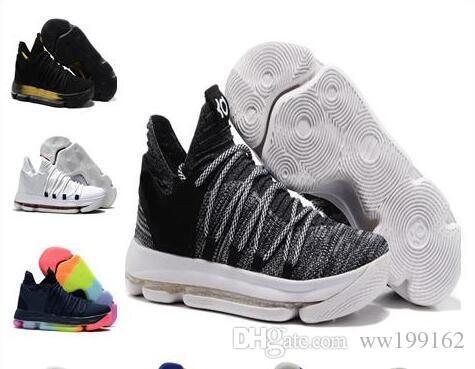 Sales KD 10 Oreo Black White Men Women Kids Shoes Store Kevin Durant  Basketball Shoes Wholesale Prices 897815 001 Low Top Basketball Shoes Kevin  Durant ... c4bdce0276