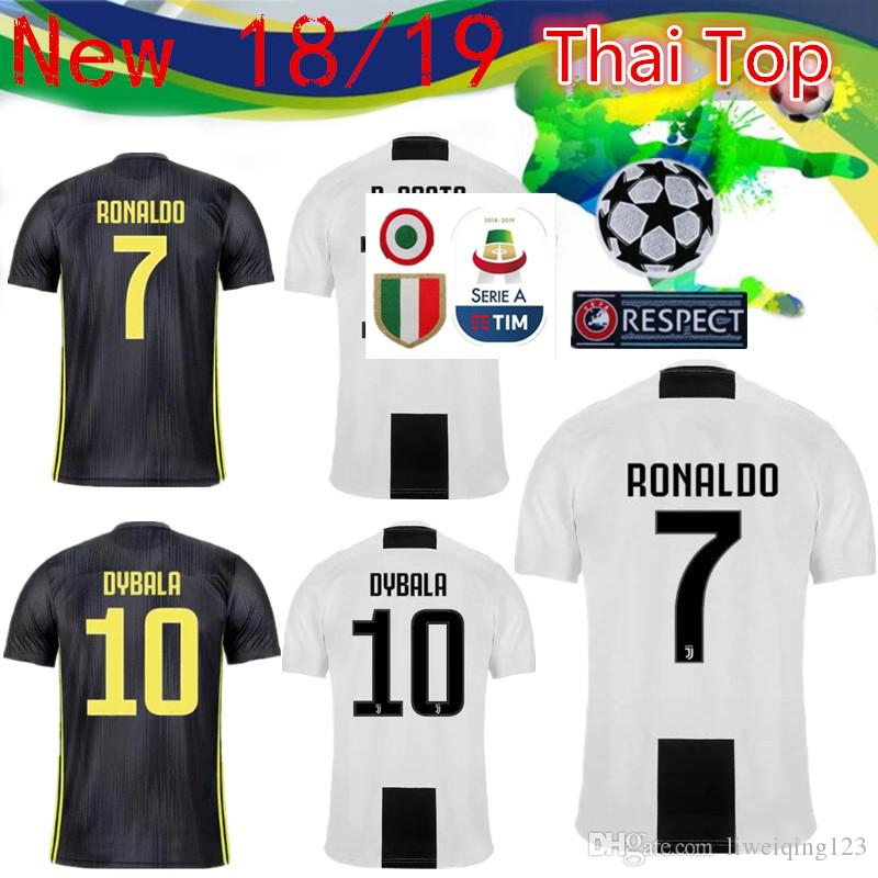 b63895a47 2019 The Latest Serie A Patch 18 19 Juventus RONALDO DYBALA HIGUAIN POGBA Football  Shirt MARCHISIO MANDZUKIC BUFFON Home Away Football Uniform From ...