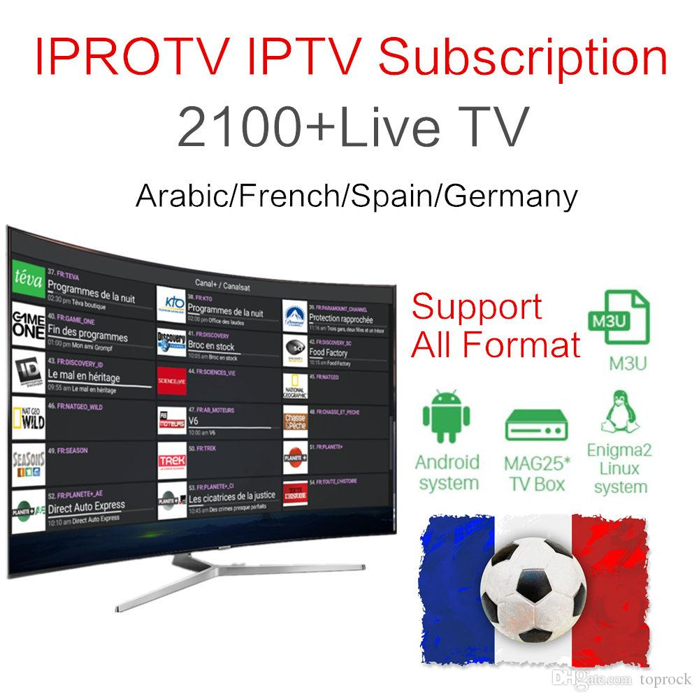 2700 IPROTV French belguim Arabic IPTV Live TV One Year Europe Arabic iptv  free sports for android tv box smart tv enigma2