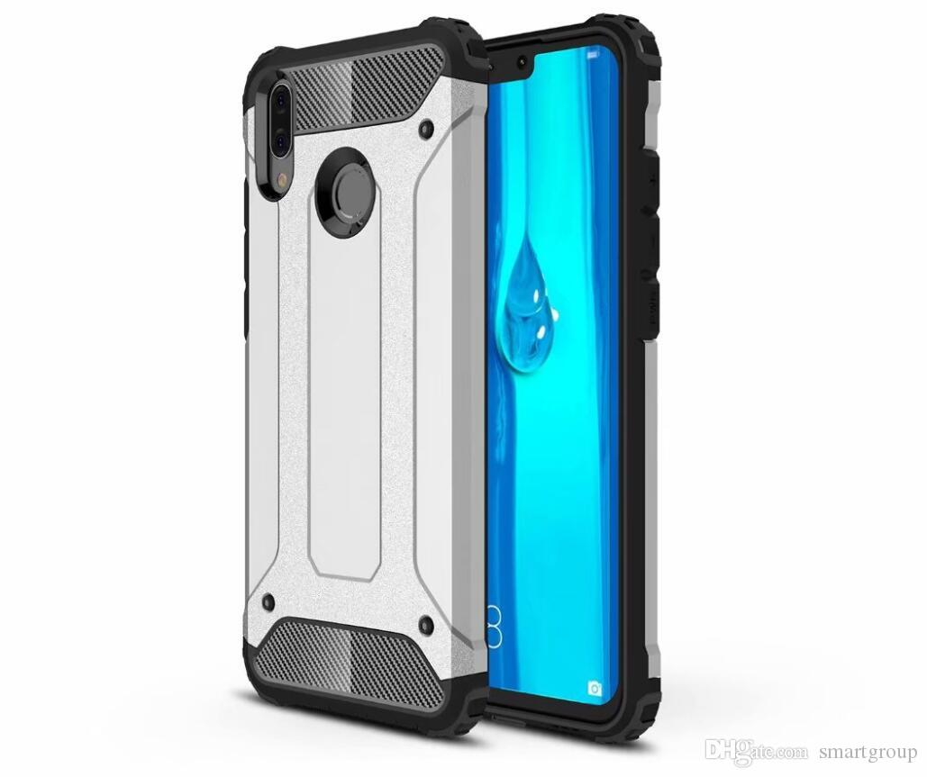 size 40 ea0e1 a5ba0 For Huawei Y9 2019 Case Colorful Rugged Combo Hybrid Armor Bracket Impact  Holster Protective Cover Case For Huawei Y9 2019 / Enjoy 9 Plus