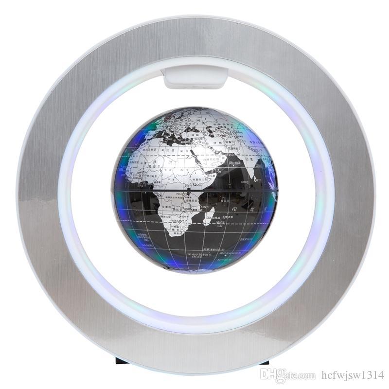 Magnétique Globe Mondial Magnétique Flottant globe LED Lévitation Rotation Tellurion Monde carte scolaire fournitures de bureau Décor à la maison