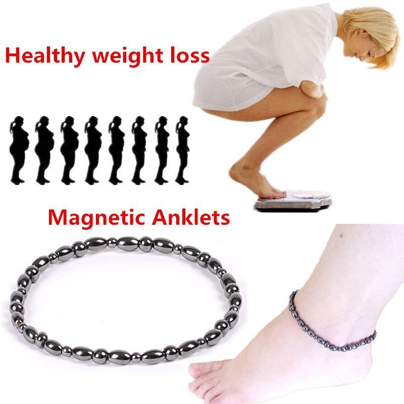 black loss hematite foot anklet new brand therapy magnetic chain itm weight