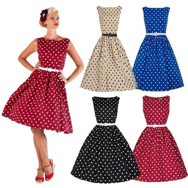 Grosshandel Kleid 50er Jahre 60er Jahre Rockabilly Kleid Vintage