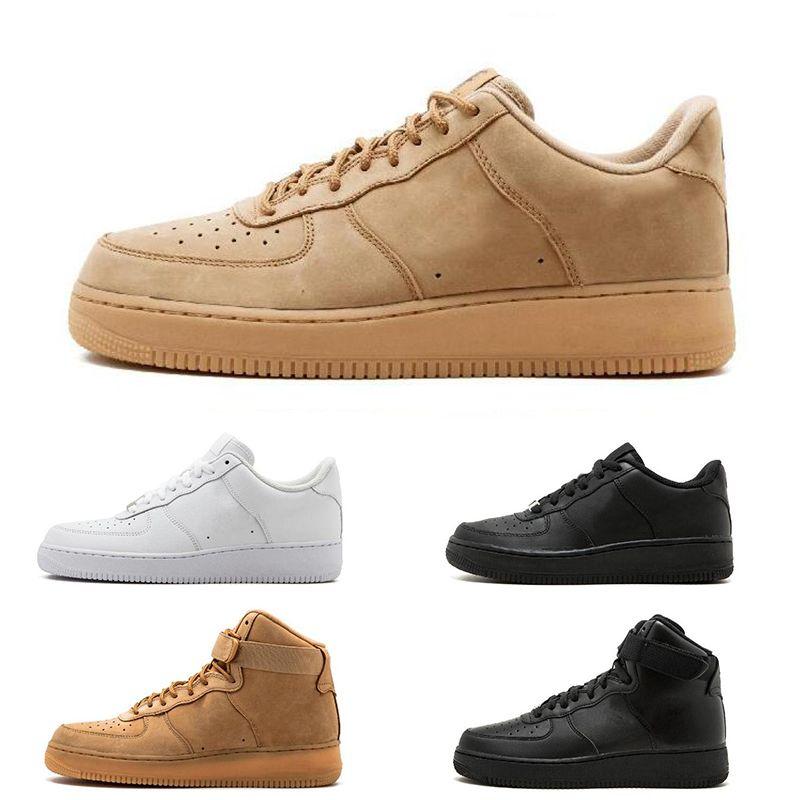 Damen Nike Air Force 1 high BHM Schwarz Rot Weiß Schuhe:Nike