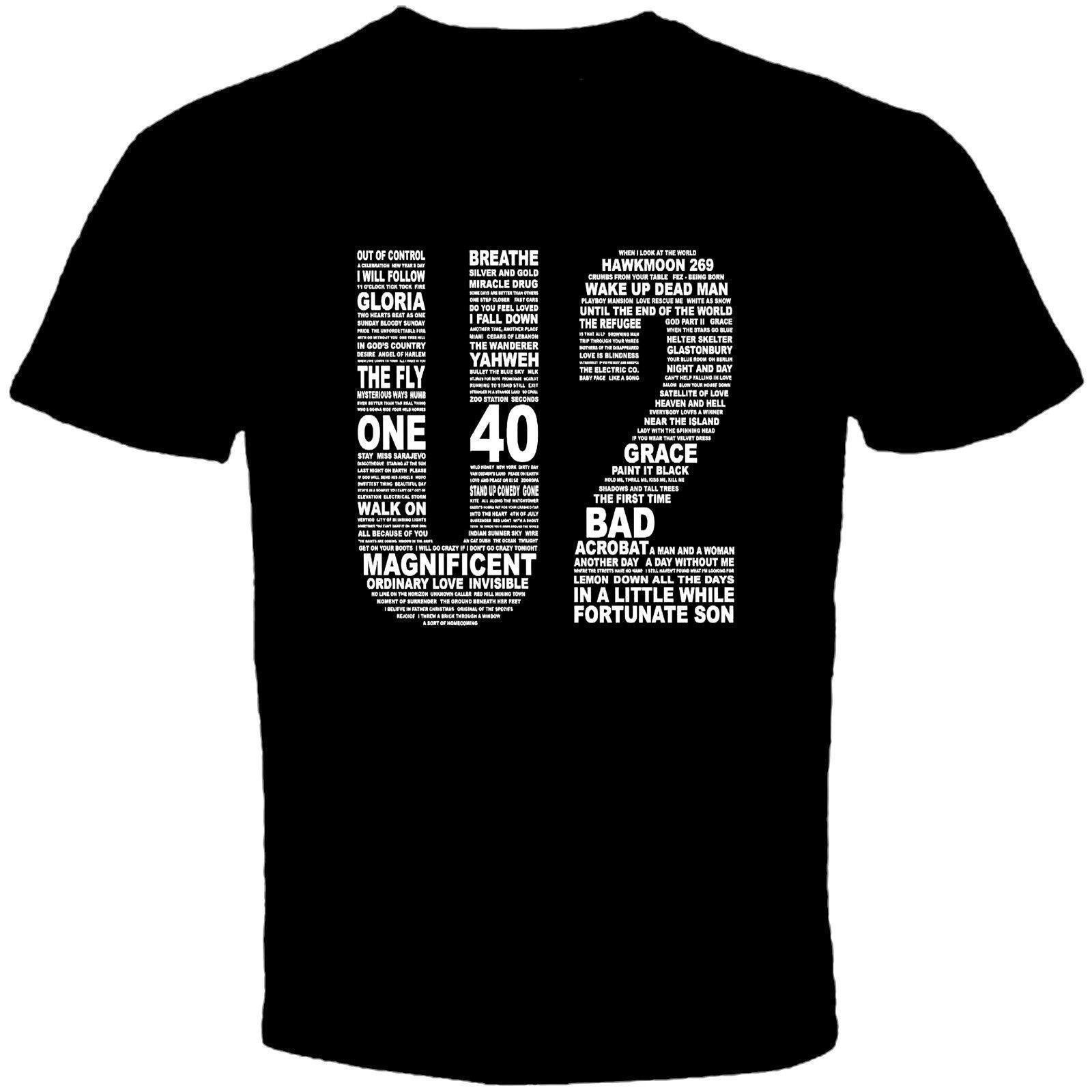 Compre U2 Camiseta De Rock Irlandesa Title Mens Black Logo Camiseta A   11.01 Del Moonprinted  27b254e2d129b