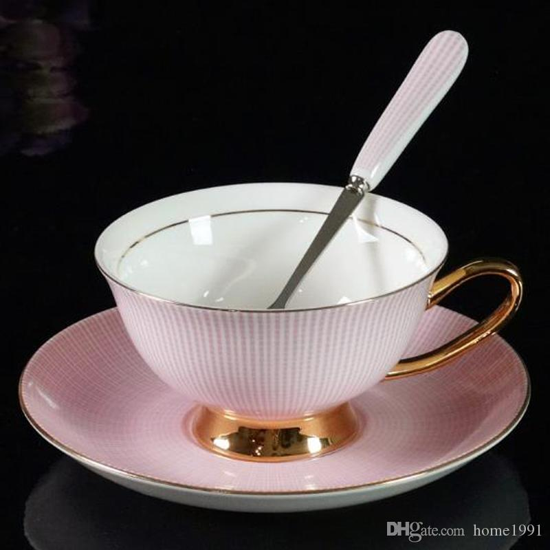 New Bone Ceramic China Tea Cup Coffee Cup Set with Saucer Afternoon ...
