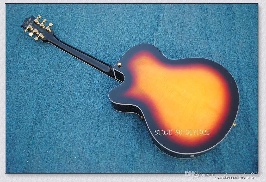 2017 neue marke gitarre geflammt ahorngitarre 6120 jazz mit hohlen körper e-gitarre auf lager china gitarren