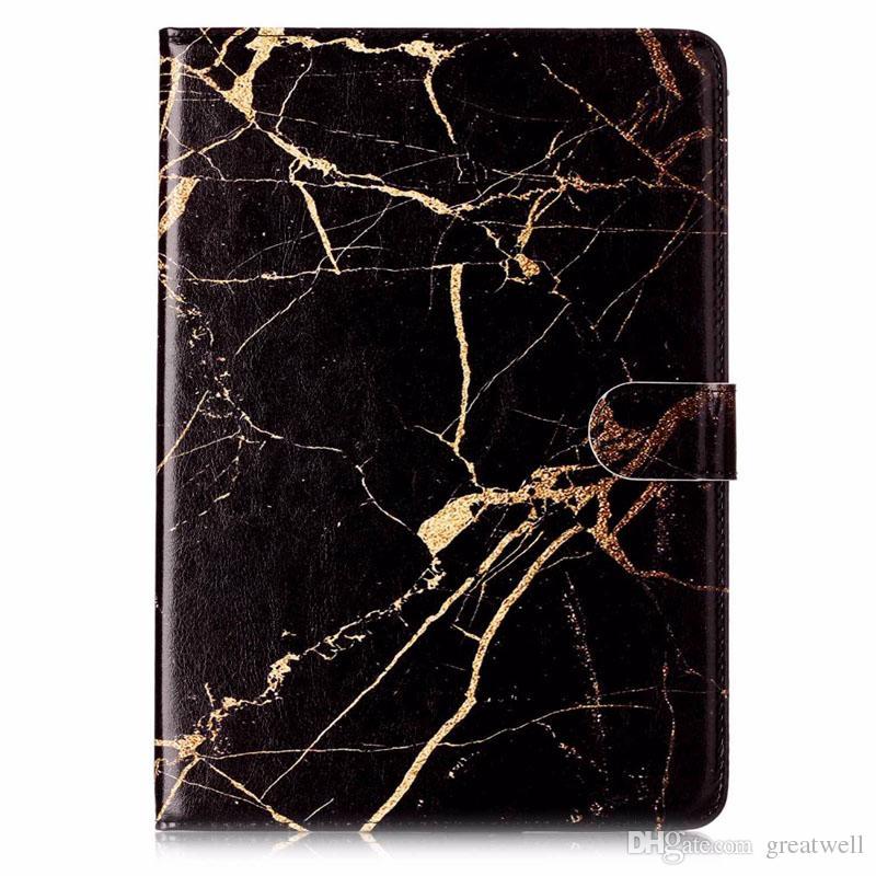 Moda Patrón de mármol de la PU billetera de cuero tirón magnético Con la cubierta del soporte para el iPad 2 del iPad 3 Aire2 4Mini 1 2 3 4 Pro 10.5 IPAD 2017