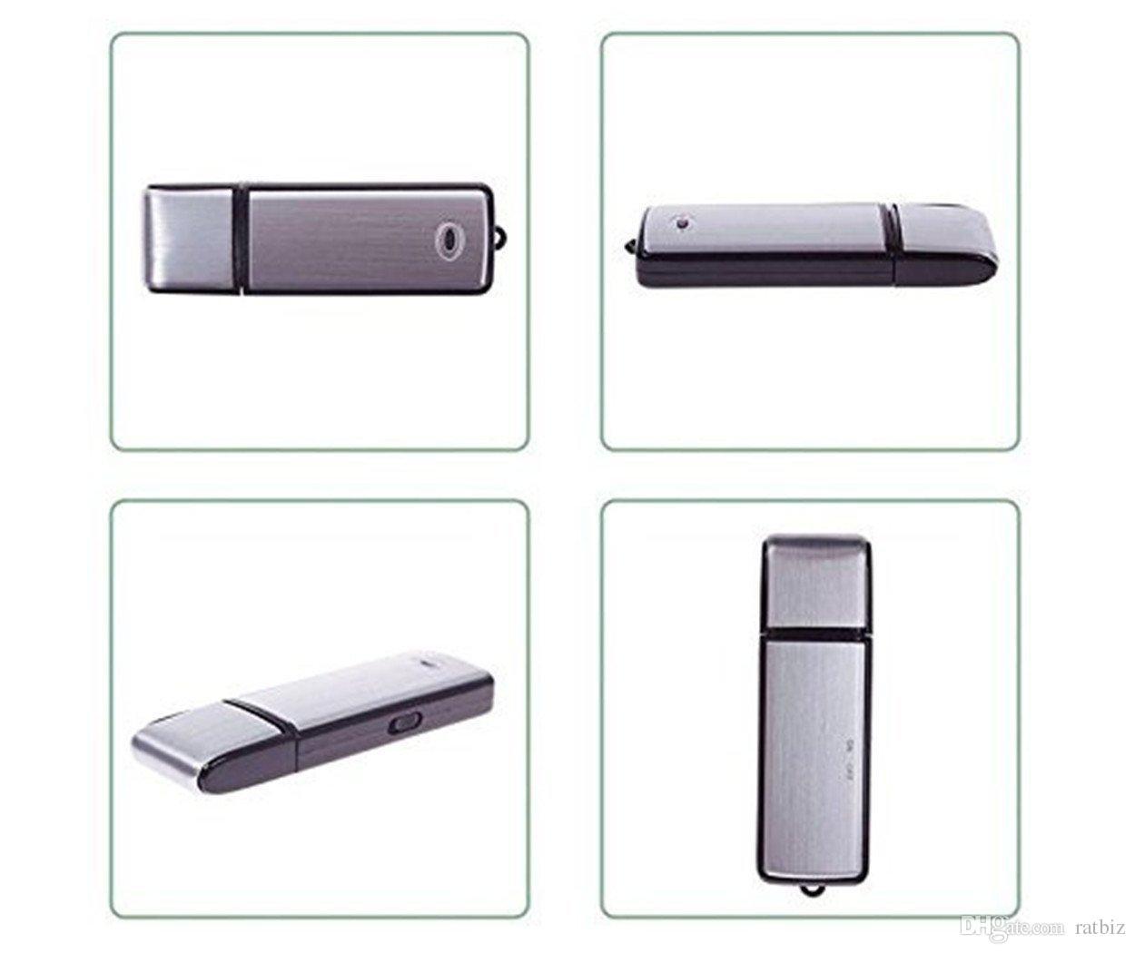 مسجل صوت USB - جهاز تسجيل صوتي 8 جيجابايت - مسجل صوت رقمي - لا يوجد ضوء وامض عند التسجيل PQ141