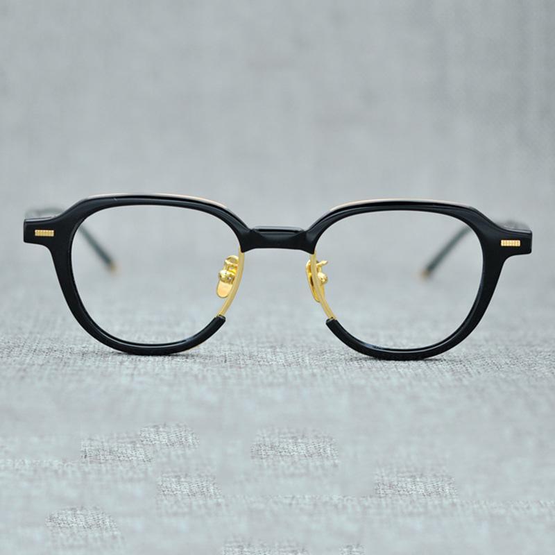 a1412f7342 Compre Gafas Acetato Vazrobe Hombres Mujeres Marcos De Lentes Para Hombre  Janpanese Marca Hombre Polígono Gafas Receta Anteojos Miopía A $162.33 Del  Gunot ...
