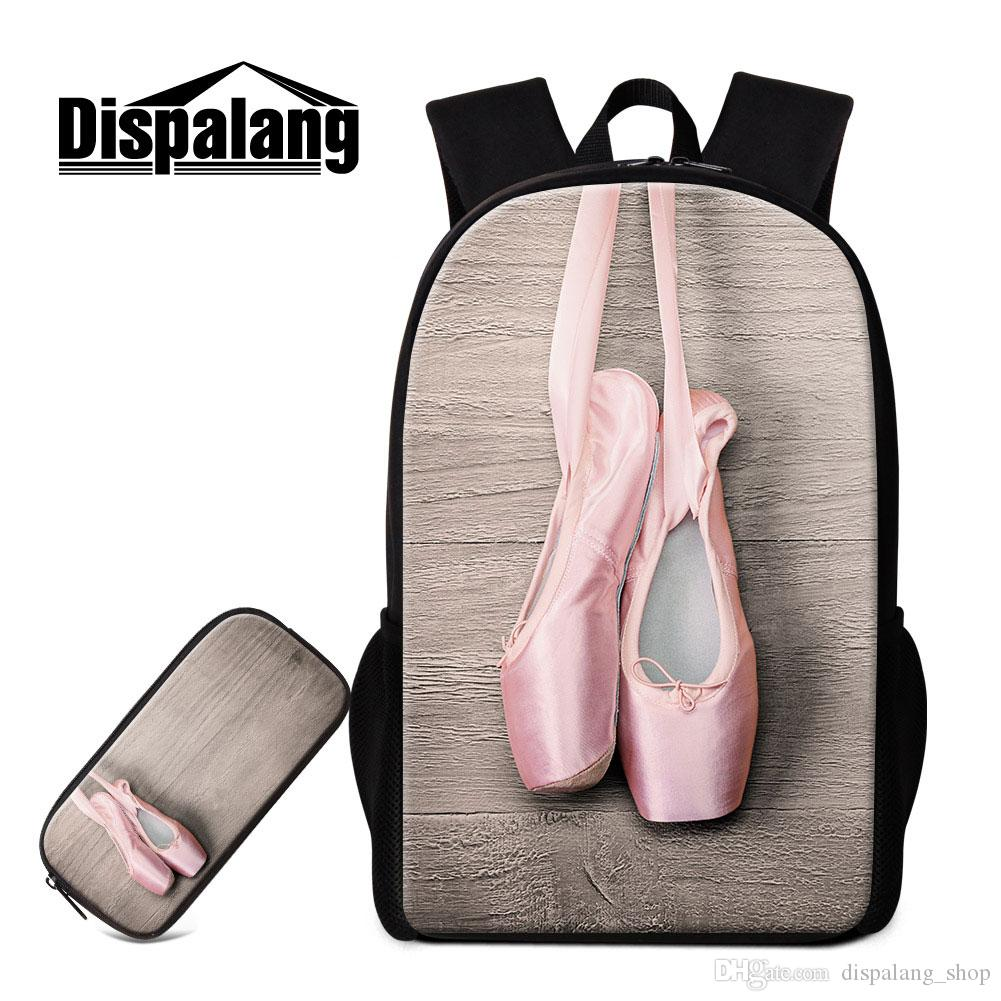 Ballet Girl Design School Bakcpack And Pencil Case Toe Shoe Bookbag For  Children Cute Rucksack Art Mochilas For Primary Students Back Pack Cute  Backpacks ... 05297c01ea60d