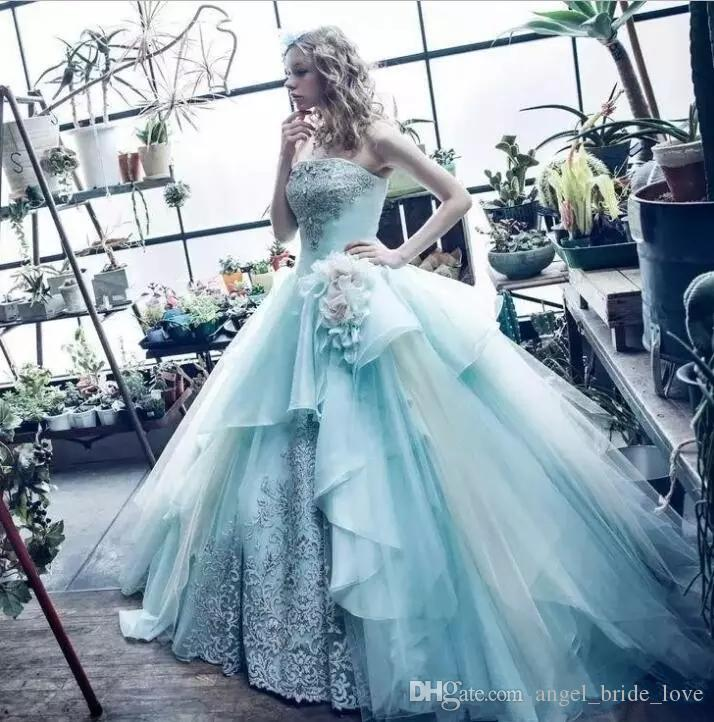 2018 Blue Ball Gown Quinceanera Dresses Custom Made Beaded Off Shoulder Prom Dress Long Formal Party Gowns Q27