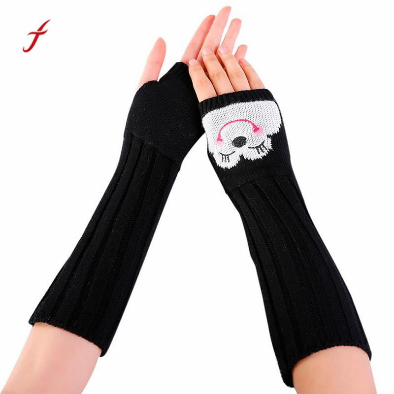 New Fashion Women Long Gloves Winter Wrist Arm Hand Warmer Knitted Long Fingerless Gloves Mitten Female Knitted Winter Fingerless Gloves Reasonable Price Apparel Accessories