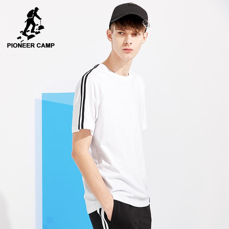87bcde318ea Pioneer Camp New Arrival T-shirt Men Brand-clothing Fashion Shoulder ...