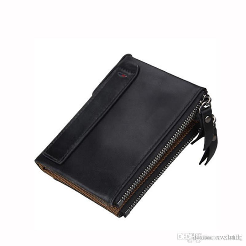 5ef504b374c4 New 2018 Luxury Brands Blanc Mens Wallets Small Bifold Credit Card Genuine  Leather Travel Purse High Quality Wallet For Men Fashion Pocket Unique  Wallets ...