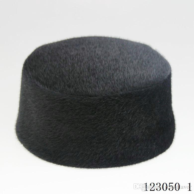 Amazing Winter muslim men hat dark coffee color warm cap with Suede Surface Muslim men cap drop shipping Hot Sell High quality