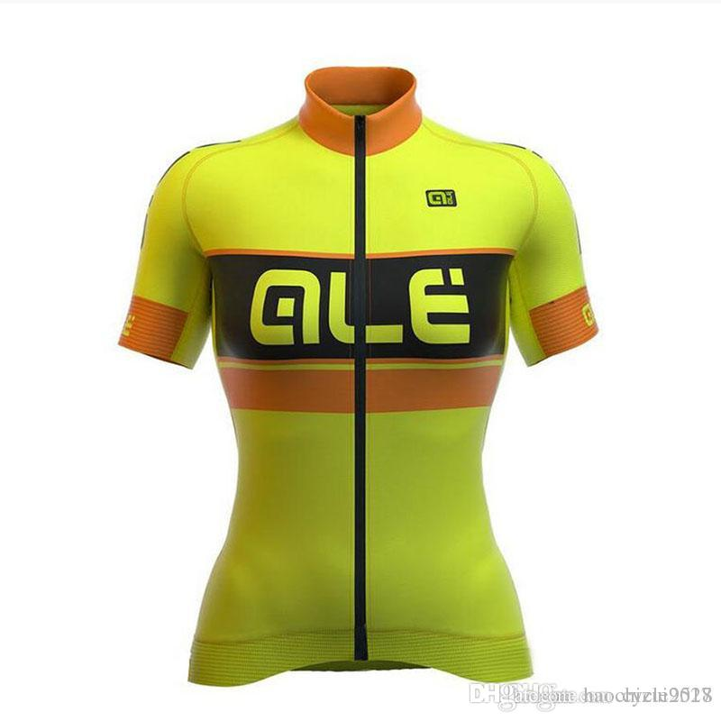 2018 New Pro Team ALE Women Short Sleeve Cycling Jersey Summer MTB ... fec7689a4