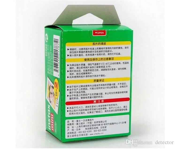Newest Instax White Film Intax For Mini 90 8 25 7S 50s Polaroid Instant Camera DHL free
