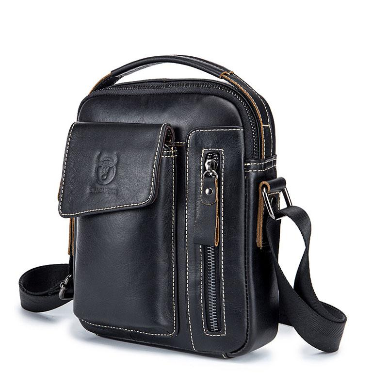 New Genuine Leather Shoulder Bag Men Messenger Bags Men s Crossbody Bag  Briefcase Handbag Male Famous Brand Vintage Travel Bags Crossbody Bags  Cheap ... 94adda98ad478