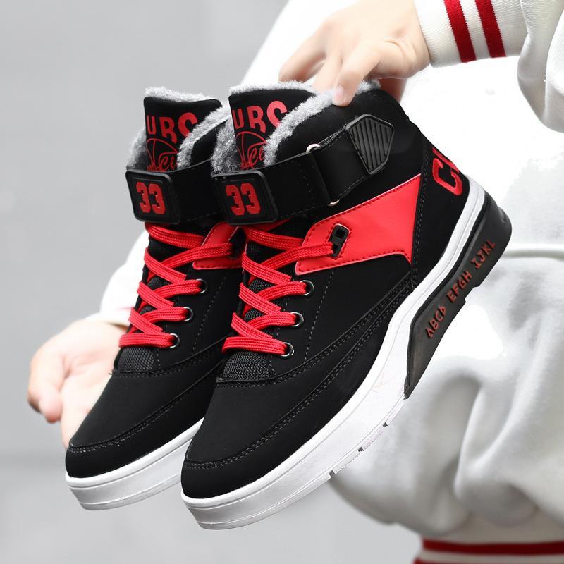 buy online 74926 5c64e Acheter 2018 Hiver Hommes Femmes Chaussures De Course Hiver Nouvelle  Fourrure Confortable À Lacets Sneakers Pour Hommes En Plein Air  Antidérapant Sport ...