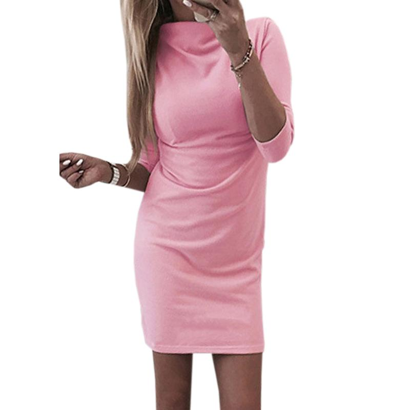 el Robe Bodycon larga Estiramiento Robe cadera Femme de de Vestido sólido Mujeres Negro otoño manga alto Fiesta M0191 Mini para Paquete vestidos Cuello Primavera vestido HTwng5xUqZ