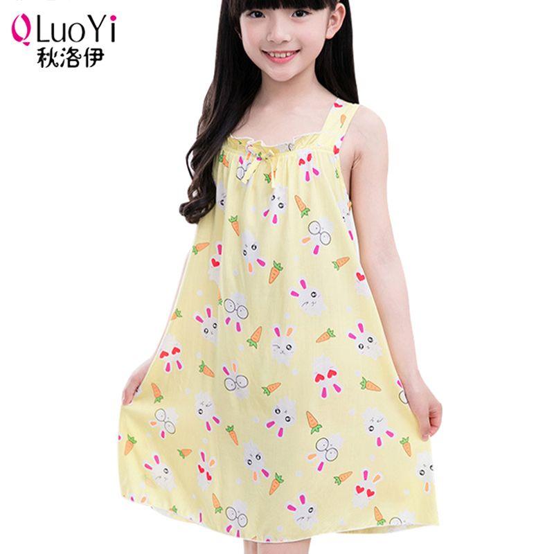 d50518f10 Girls Worsted Nightdress Kids Sleepwear Dress Cute Print Cartoon ...
