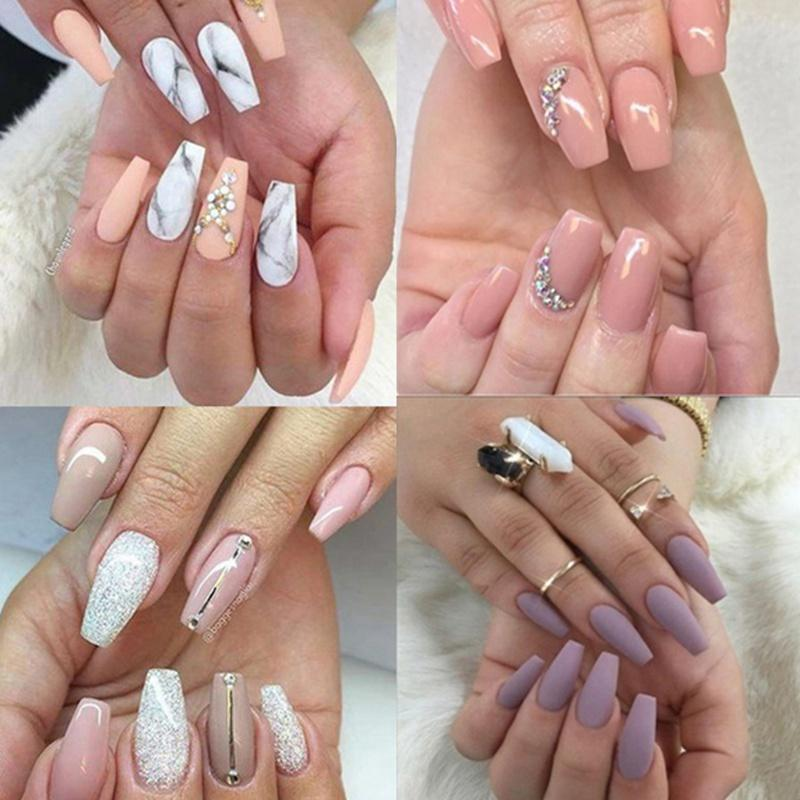 100 pcs False Nail For Women Nail Design False Artificial Nails Art  Manicure Art Tools R1